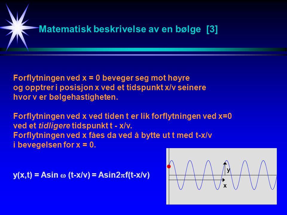 Matematisk beskrivelse av en bølge [3]